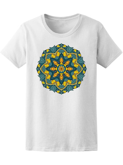 Beautiful Vibrant Colors Mandala Tee Women's -Image by Shutterstock