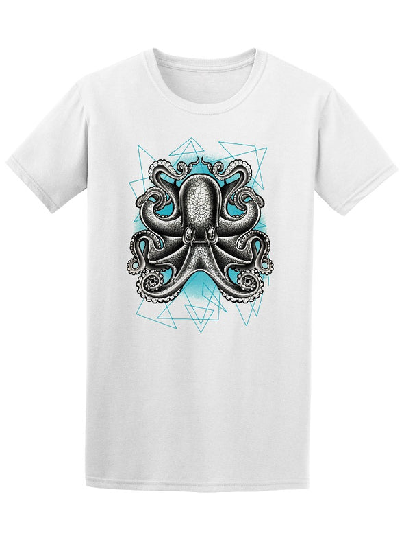 Amazing Octopus Geometric Sketch Tee Men's -Image by Shutterstock