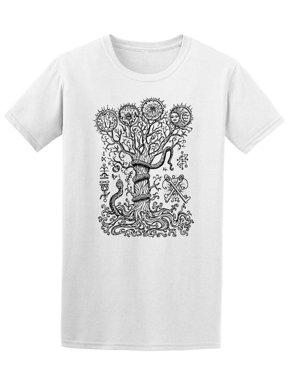 Black&White Tree Weird Patterns Tee Men's -Image by Shutterstock
