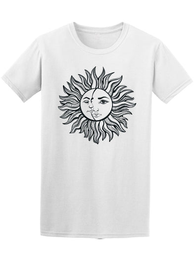 Sun And Moon Alchemy Simbol   Tee Men's -Image by Shutterstock