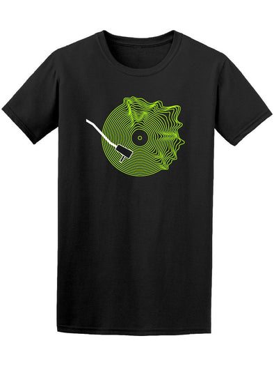 Vinyl Green Record Tee Men's -Image by Shutterstock