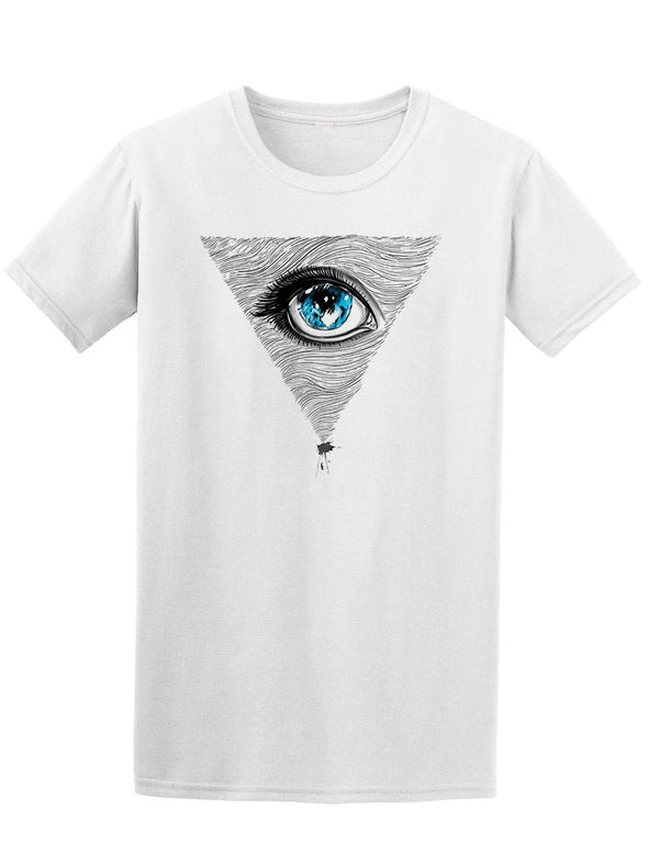 Hand Drawn Pyramid Eye Tee Men's -Image by Shutterstock