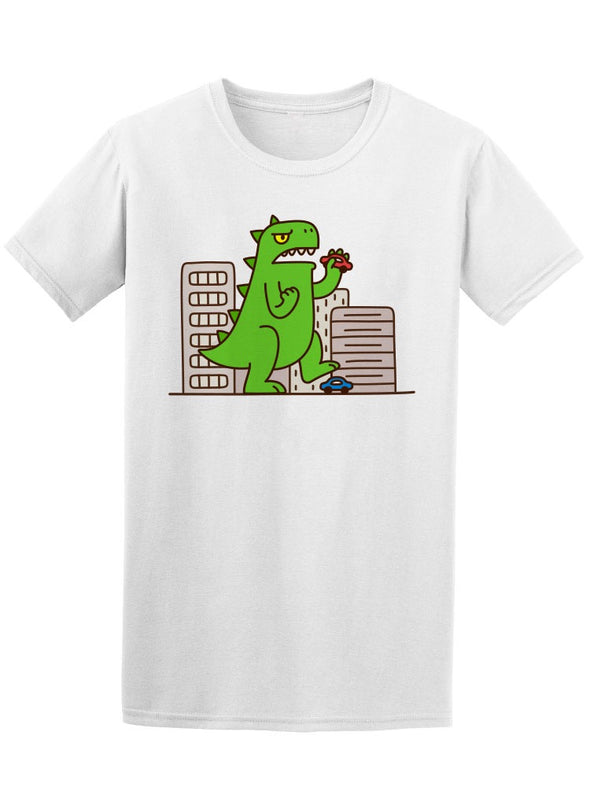 Cute Cartoon Monster Dinosaur Tee Men's -Image by Shutterstock