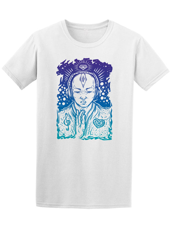 Trance Meditation Music Buddha Tee Men's -Image by Shutterstock