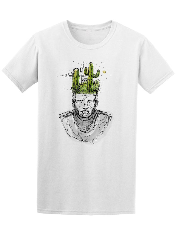 Man With Cactus On His Head Tee Men's -Image by Shutterstock