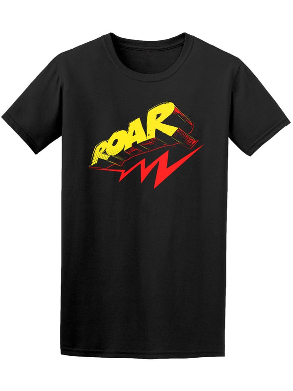 Roar Retro Grunge Thunder Quote Tee Men's -Image by Shutterstock