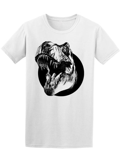 Dinosaur Head In Circle Tee Men's -Image by Shutterstock