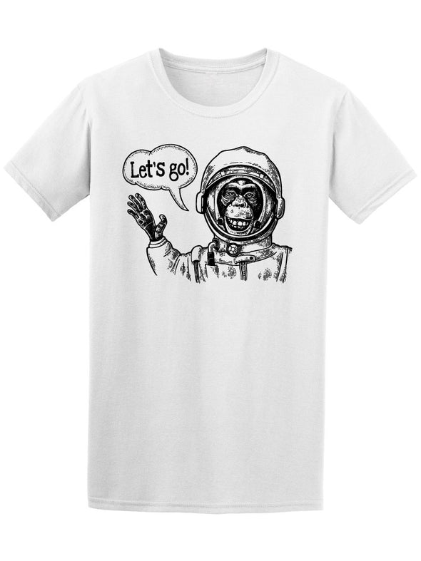 Monkey In Astronaut Suit Tee Men's -Image by Shutterstock