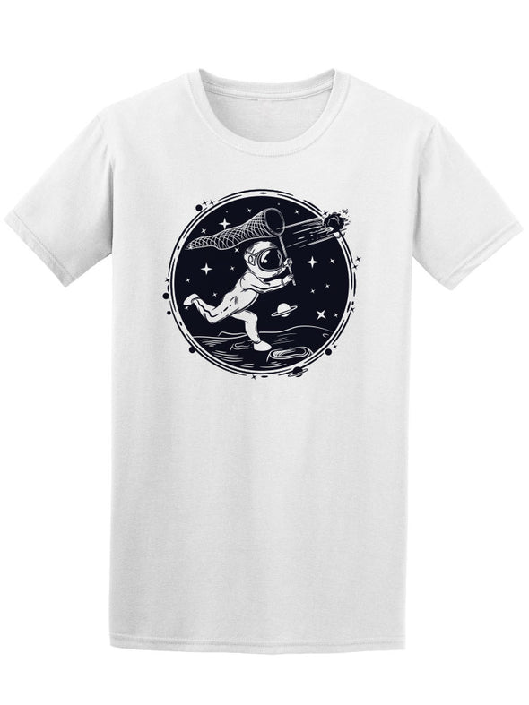 Vintage Astronaut In The Moon Tee Men's -Image by Shutterstock