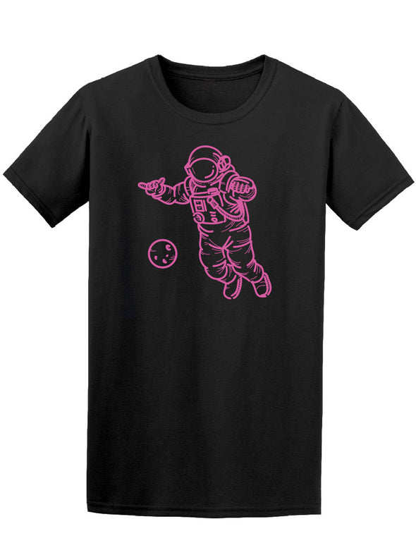 Austronaut In Sharp Effect Tee Men's -Image by Shutterstock