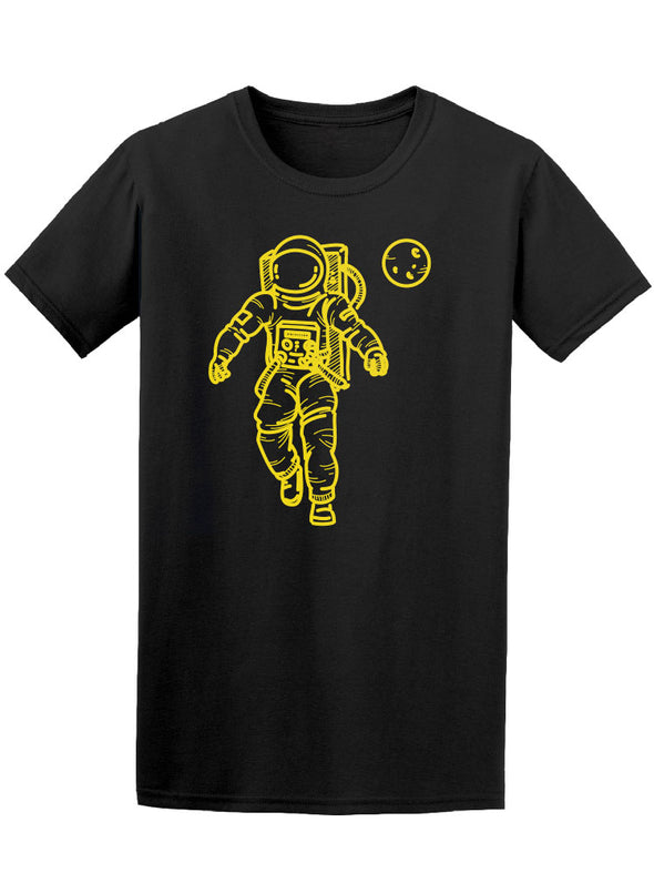 Astronaut Yellow In Sharp Effect Tee Men's -Image by Shutterstock