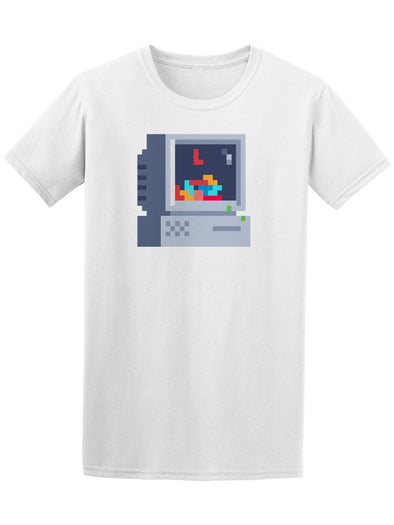 Retro Computer Pixel Art Tee Men's -Image by Shutterstock