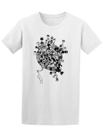 Comic Man With Comic Bubble Tee Men's -Image by Shutterstock