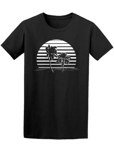 Black And White Stripes Beach Tee Men's -Image by Shutterstock