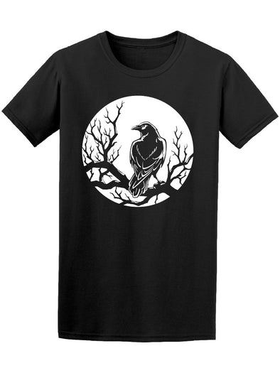 Grunge Gothic Black Crow Tee Men's -Image by Shutterstock