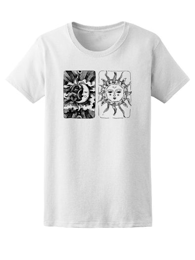 Decorative Sun And Moon Art Tee Women's -Image by Shutterstock