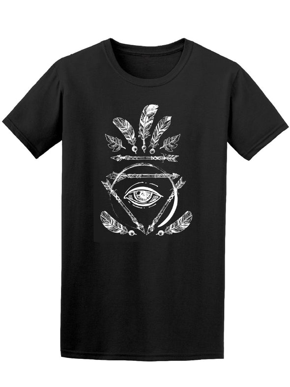 Bohoh All Seeing Eye B&W Tee Men's -Image by Shutterstock