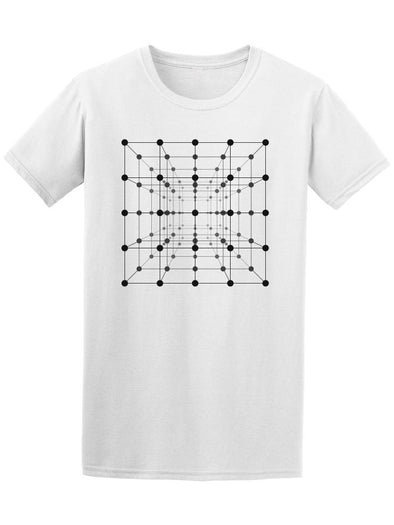Wireframe Mesh Cube Tee Men's -Image by Shutterstock
