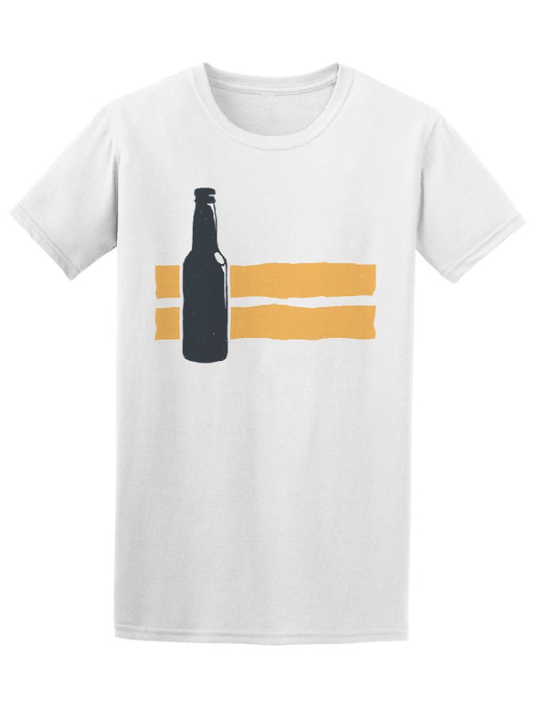 Vintage Beer Bottles Design Tee Men's -Image by Shutterstock
