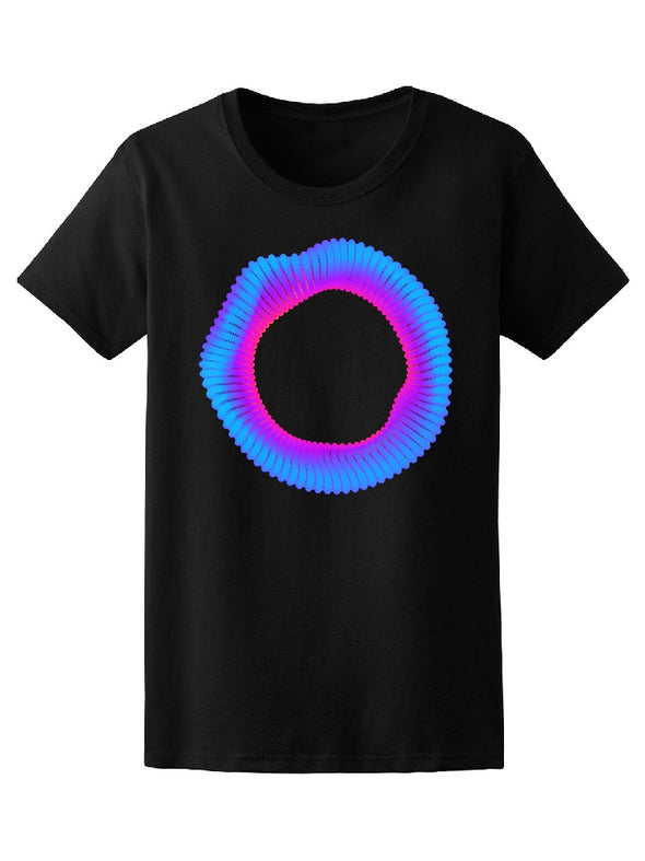 Watercolor Circle In Sharp Effect Tee Women's -Image by Shutterstock