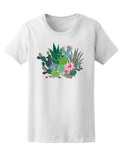 Beautiful Floral Cactus Collage Tee Women's -Image by Shutterstock
