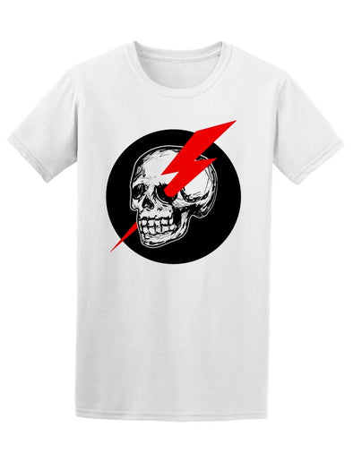 Skull With Red Thunder Tee Men's -Image by Shutterstock