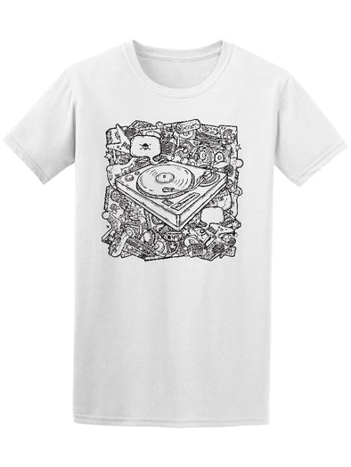 Cool Vintage Vynil Music Tee Men's -Image by Shutterstock