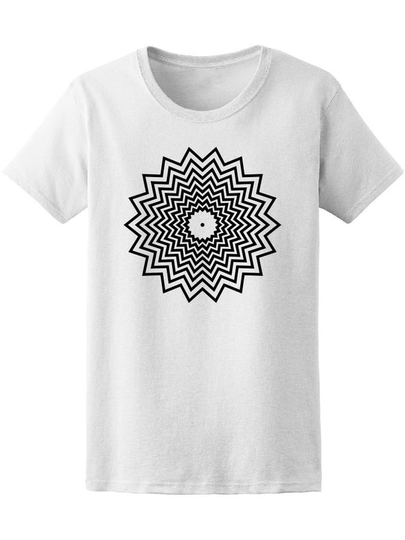 Abstract Sun. Geometric Art Tee Women's -Image by Shutterstock