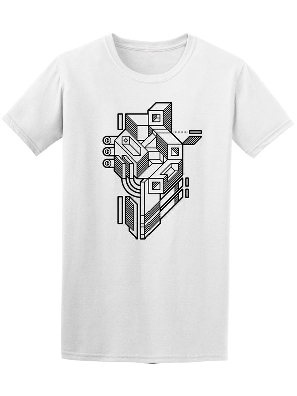 Abstract Geometric Shapes Style Tee Men's -Image by Shutterstock