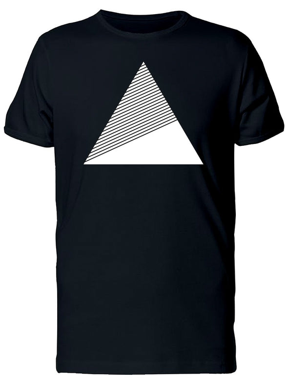 Big White Triangle With Stripes Tee Men's -Image by Shutterstock