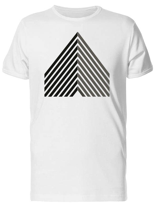 Black Line Art Triangle Logo Tee Men's -Image by Shutterstock
