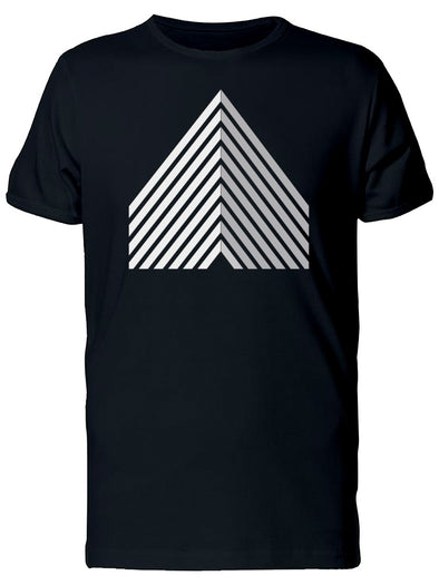 White Line Art Triangle Logo Tee Men's -Image by Shutterstock