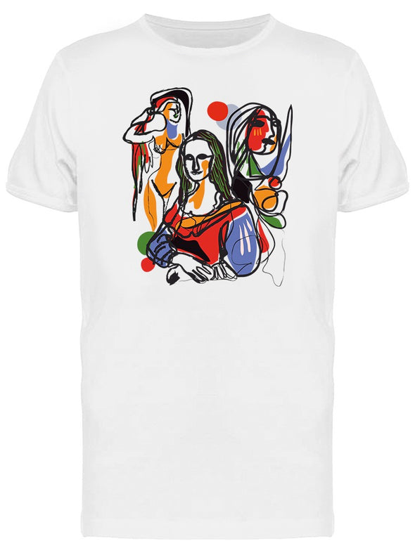 Abstract Mona Lisa Tee Men's -Image by Shutterstock