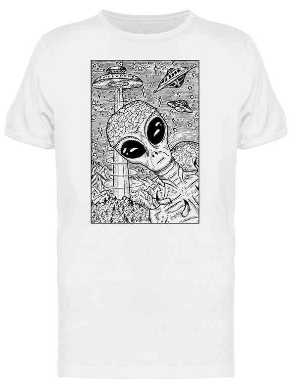Alien Ufo Fantasy Creatures Tee Men's -Image by Shutterstock