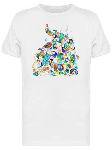 Bunch Of Crooked People Graphic Tee Men's -Image by Shutterstock
