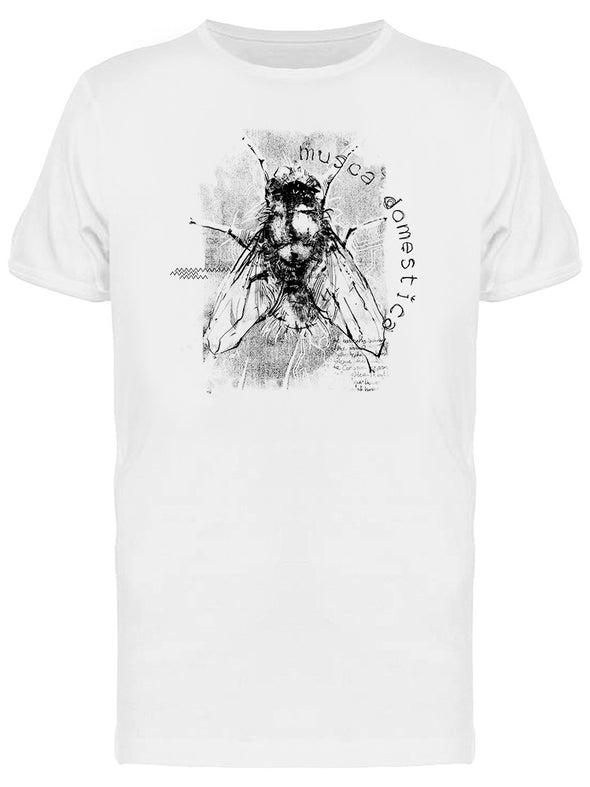 Fly Musca Domestica Graphic Tee Men's -Image by Shutterstock