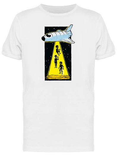 Space Aliens Kidnap Graphic Tee Men's -Image by Shutterstock