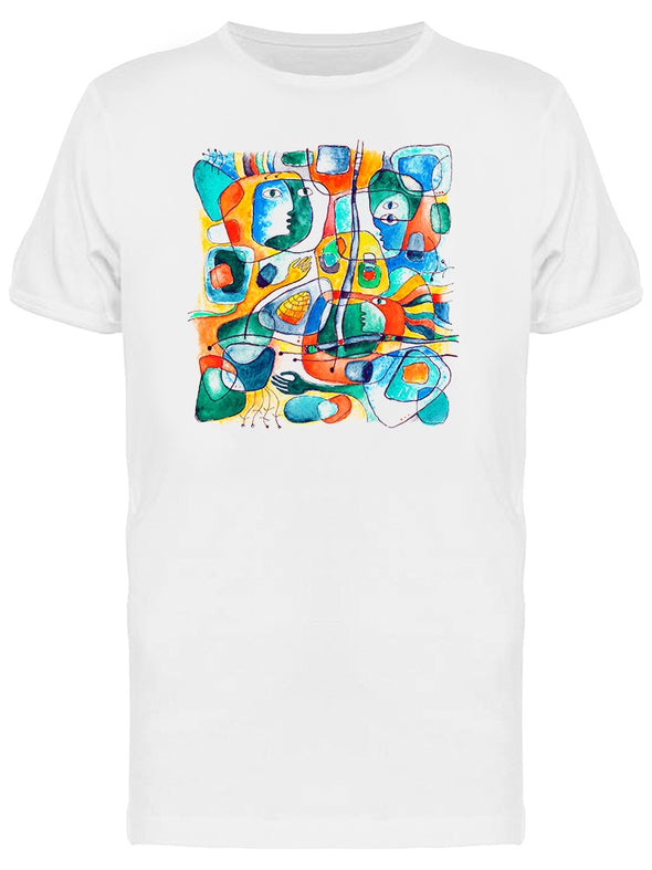 Composition Faces Shapes Lines Tee Men's -Image by Shutterstock