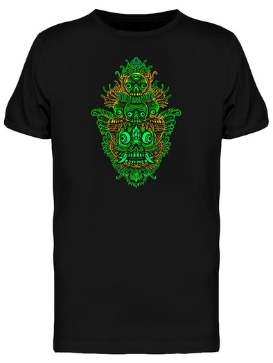 Indonesian Mask Graphic Logo Tee Men's -Image by Shutterstock