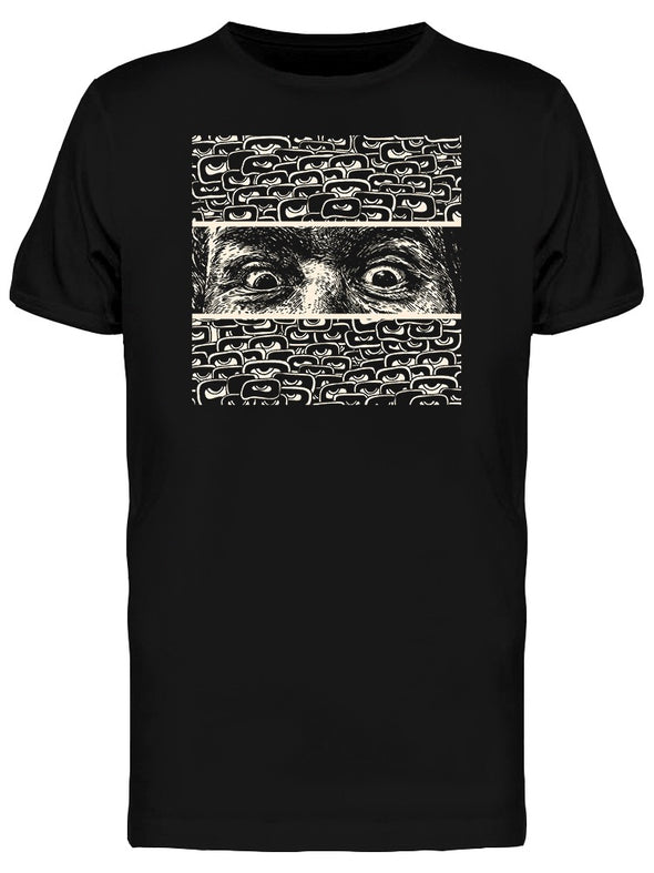Staring Crazy Eyes Graphic Tee Men's -Image by Shutterstock