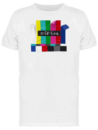 Tv Off Line Retro Urban Graphic Tee Men's -Image by Shutterstock