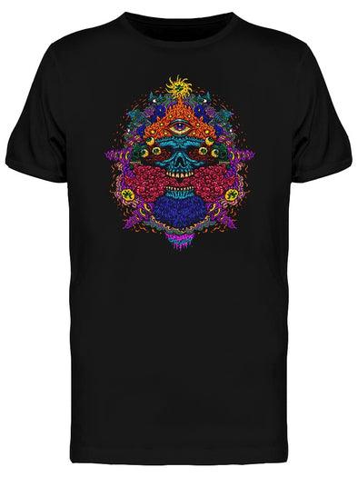 Psychedelic Skull And Eyes Tee Men's -Image by Shutterstock