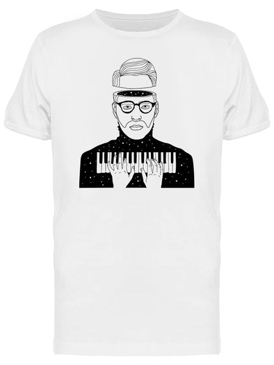 Mystic Pianist And Universe Tee Men's -Image by Shutterstock