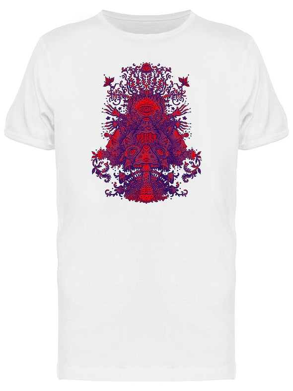 Psychedelic Forest Mushrooms Tee Men's -Image by Shutterstock