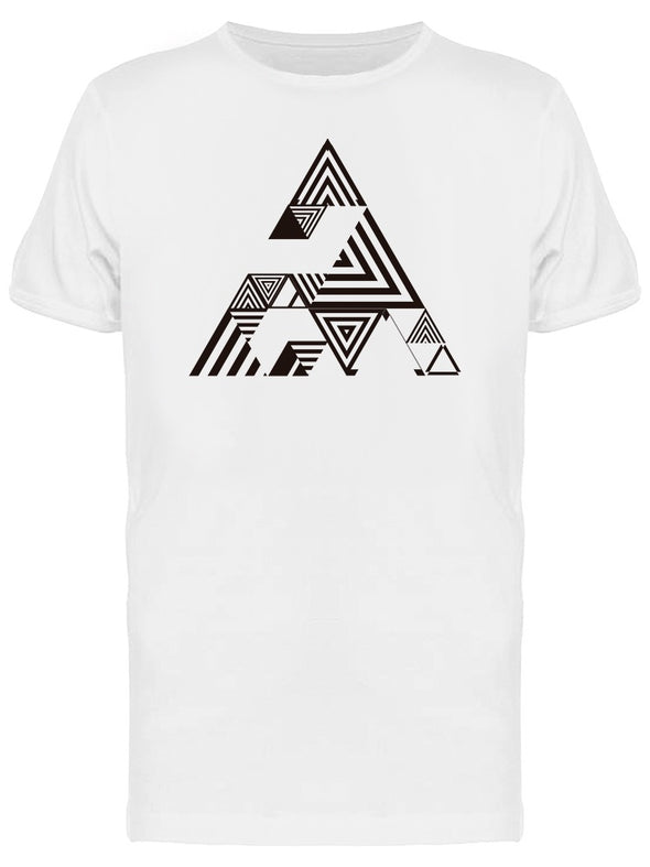 Abstract Hipster Triangle Tee Men's -Image by Shutterstock