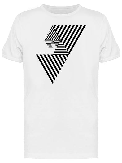 Abstract Lines In Spiral Tee Men's -Image by Shutterstock