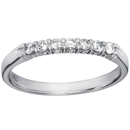 10K White Gold Diamond Anniversary Ring (0.20ct tw)