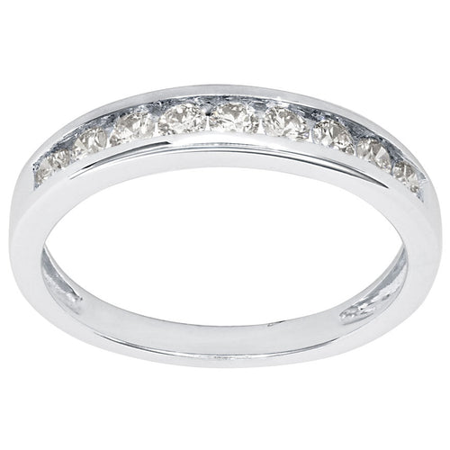 14K Channel Set Diamond Wedding Band (0.40 ct tw)