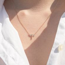 Load image into Gallery viewer, Dragonfly Diamond Pendant in 10K Rose Gold