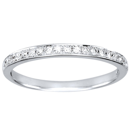 Micro Pavé-Set Diamond Anniversary Ring in 14K White Gold (0.15ct tw)